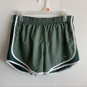 Nike Dri Fit Green Running Shorts size L